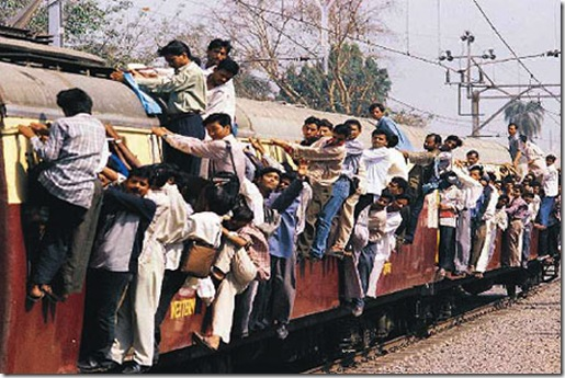 Mumbai Crowded Train